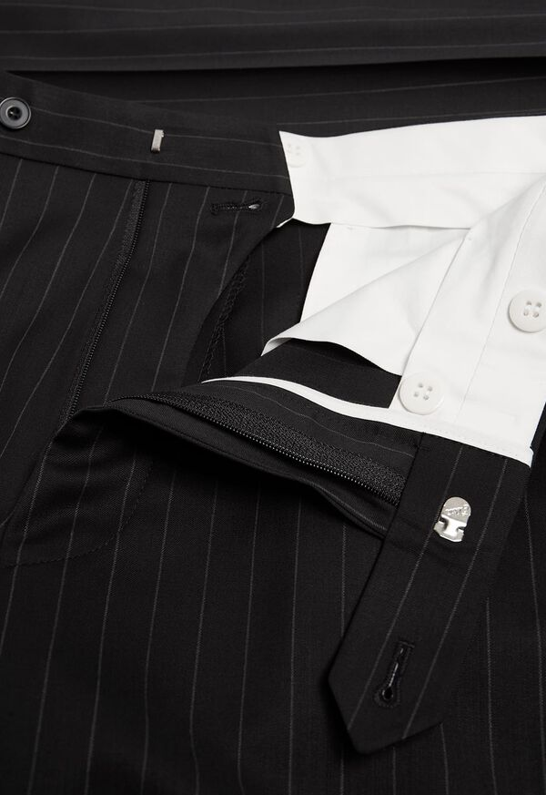 Black and White Chalk Stripe Suit, image 6