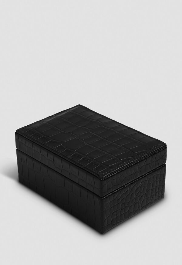 Embossed Leather Small Jewelry Box, image 1