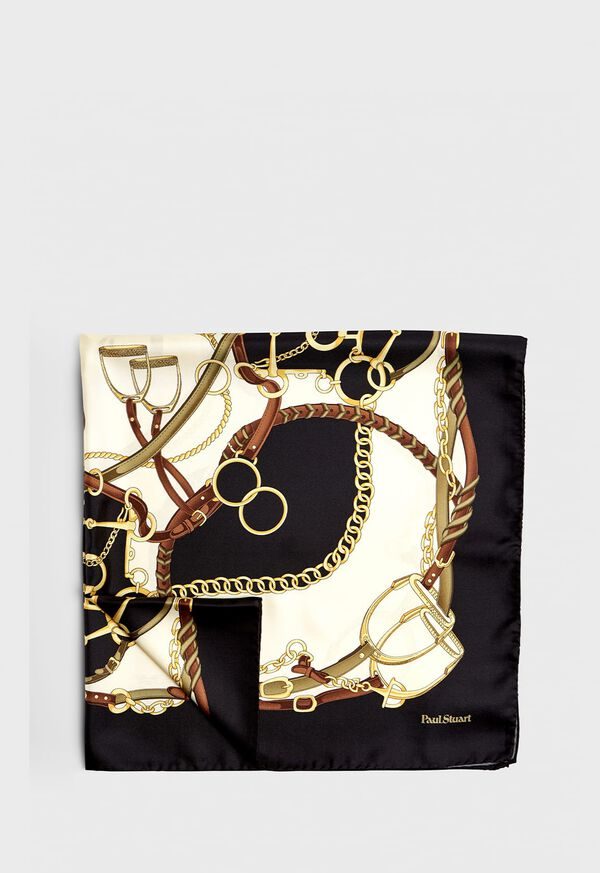 Belts and Bits Silk Scarf, image 1
