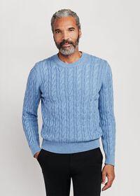 Cable Knit Crewneck Sweater, thumbnail 1