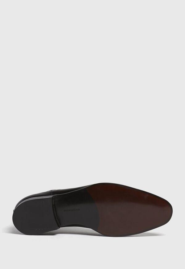 Black leather Half Chelsea Boot, image 6