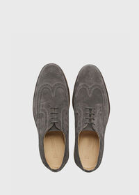 Monaco Suede Wingtip Lace-Up, thumbnail 2