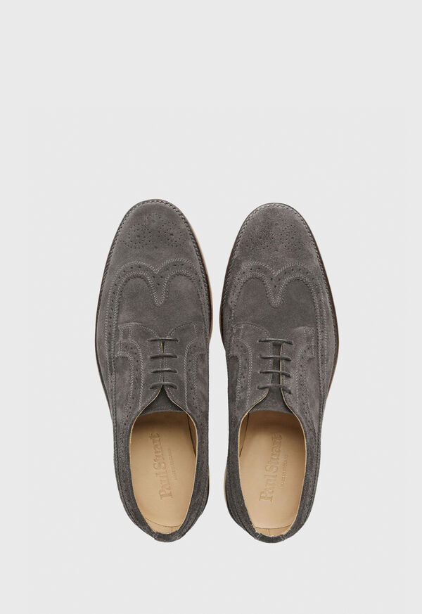 Monaco Suede Wingtip Lace-Up, image 2