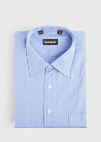 Blue Herringbone Dress Shirt, thumbnail 1