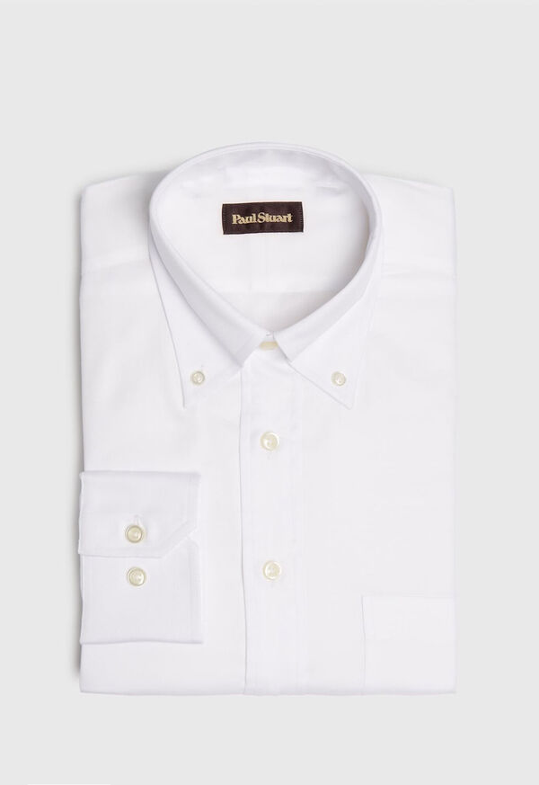 Super 140s Cotton Button Down Collar Dress Shirt, image 1