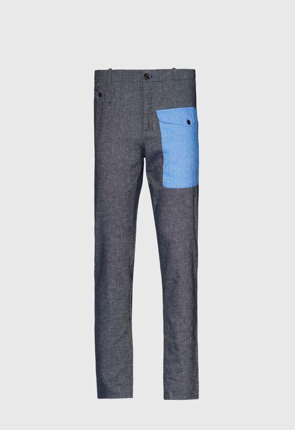 Indigo Contrast Envelope Pocket Pant, image 1