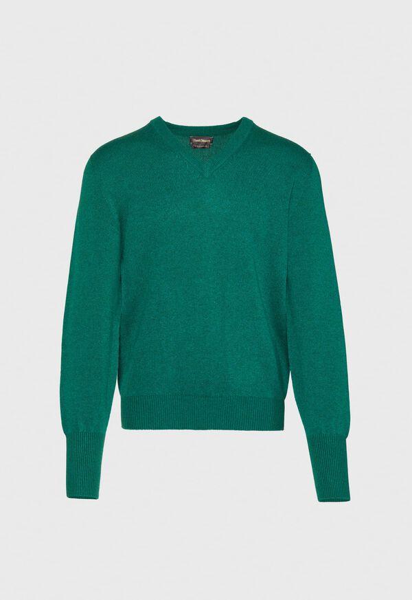 Scottish Cashmere V-Neck Sweater, image 14