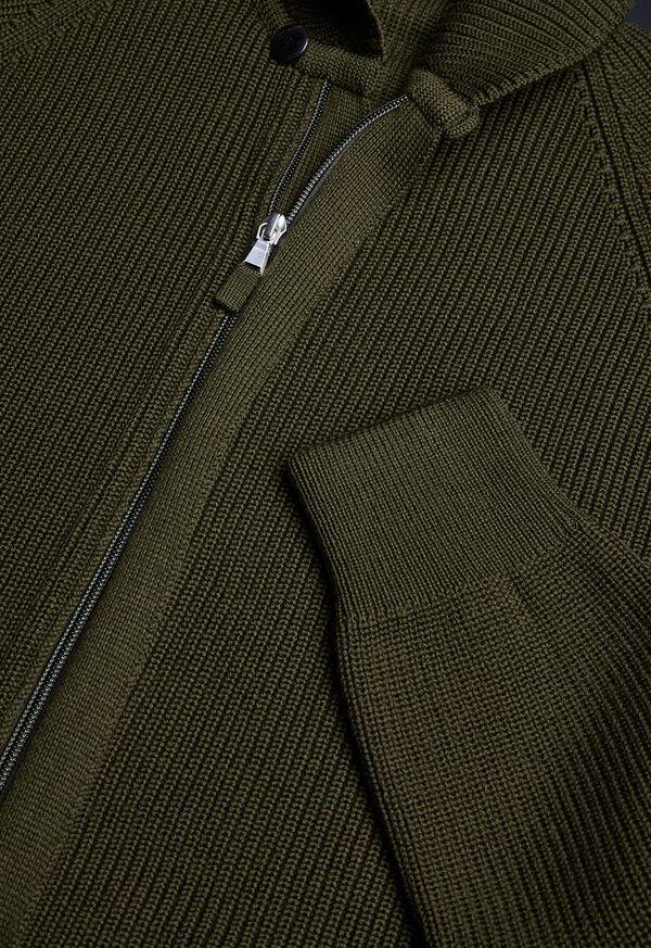 Merino Wool Shawl Collar Cardigan, image 2