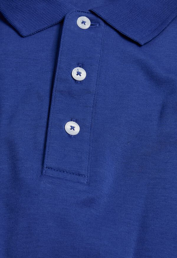 Pima Cotton Interlock Polo, image 2