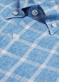 Linen Windowpane Sport Shirt, thumbnail 2