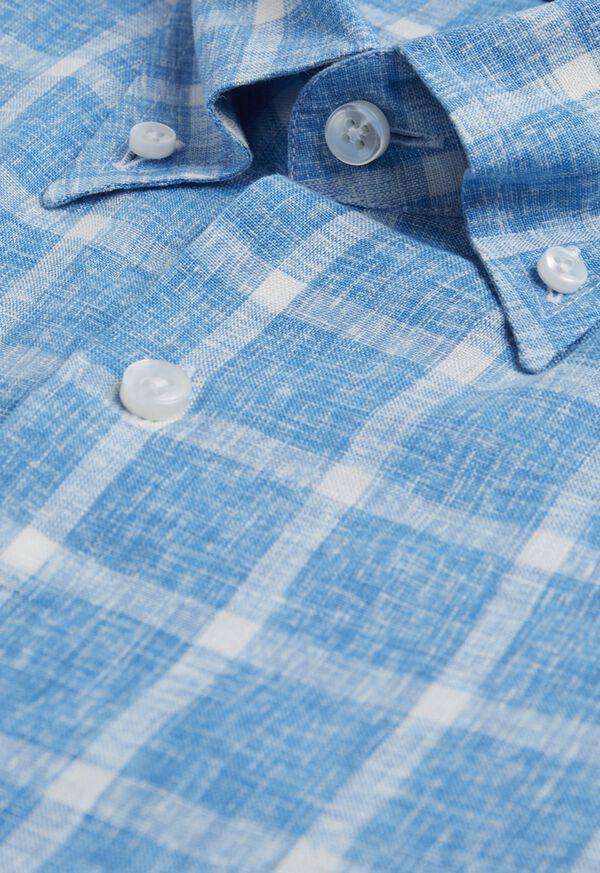 Linen Windowpane Sport Shirt, image 2