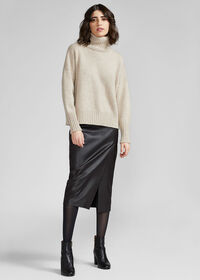 Cashmere Cropped Turtleneck Sweater, thumbnail 2