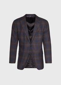 Paul Fit Brown Plaid Wool Blend Sport Jacket, thumbnail 1