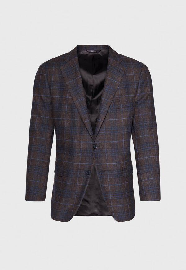 Paul Fit Brown Plaid Wool Blend Sport Jacket, image 1