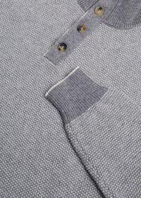 Cashmere Two-Tone Mock Neck Sweater, thumbnail 2