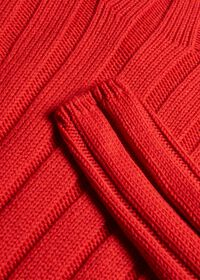 Ribbed Mock Neck Sweater, thumbnail 2