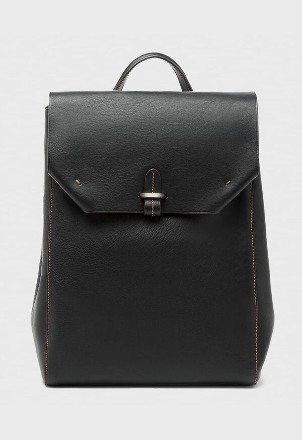 Textured Bridle Leather Backpack, image 1