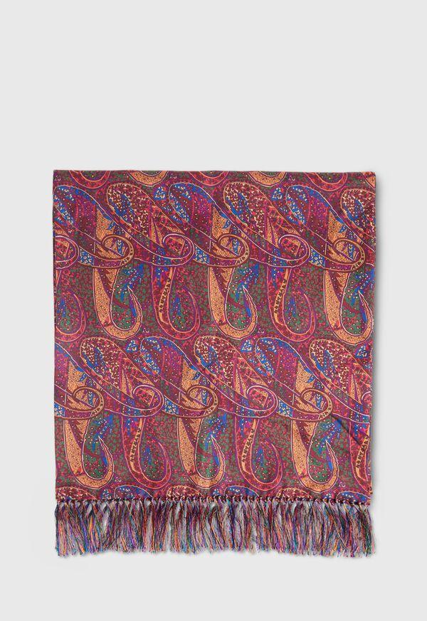Master Paisley Print Silk Scarf, image 2