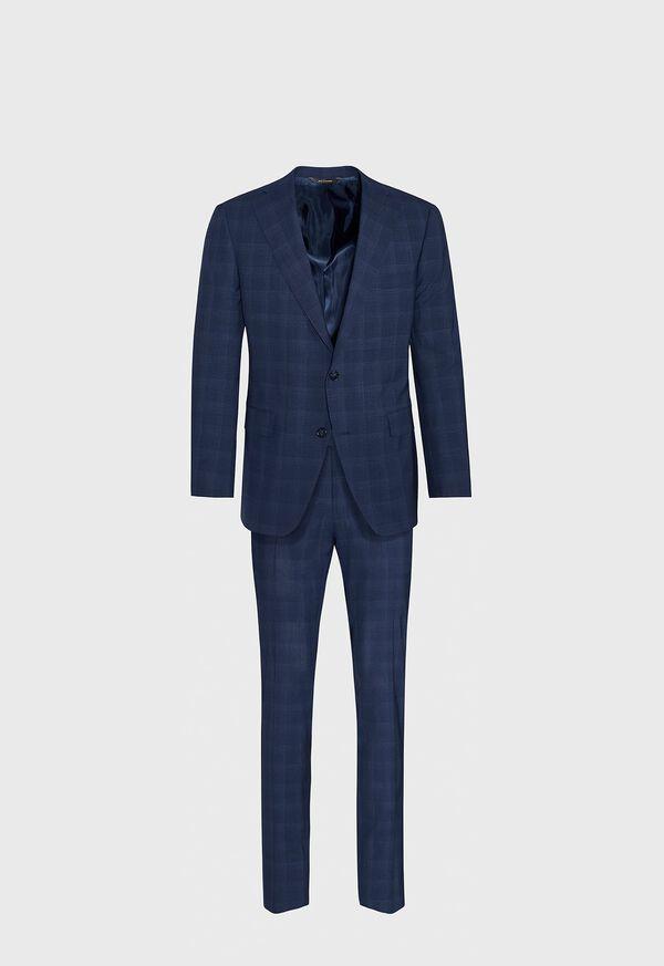 Fainted Deco Pane Super 150s Wool Suit, image 1