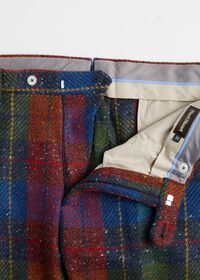 Red and Blue Plaid Plain Front Pant, thumbnail 2