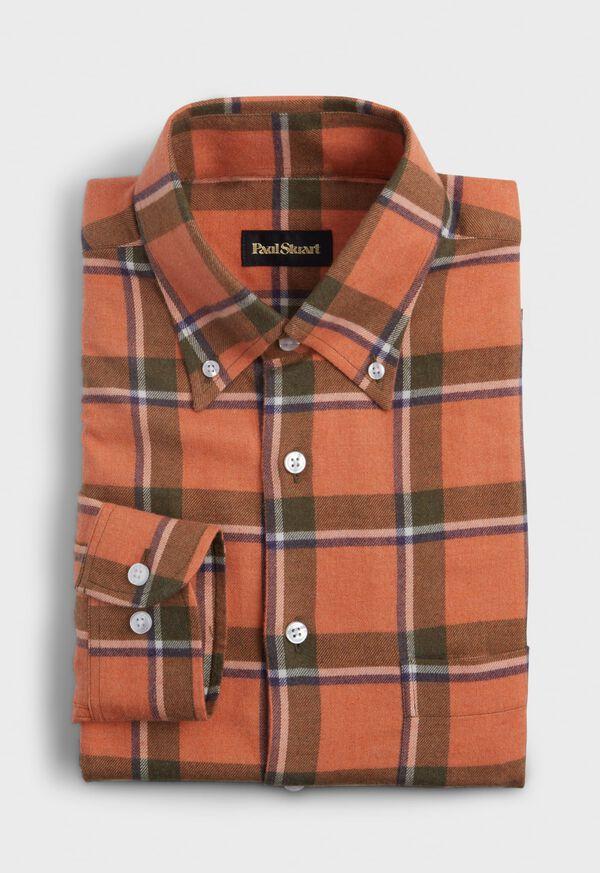 Cotton Big Plaid Flannel Sport Shirt