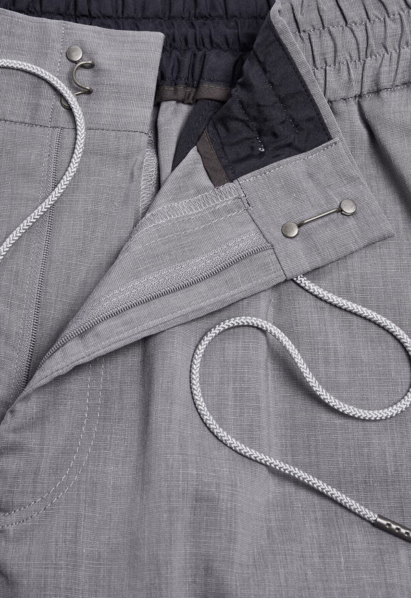 Solid Linen Blend Pant, image 2