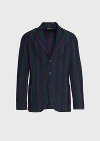 Rice Stitch Merino Wool Stripe Blazer, thumbnail 1