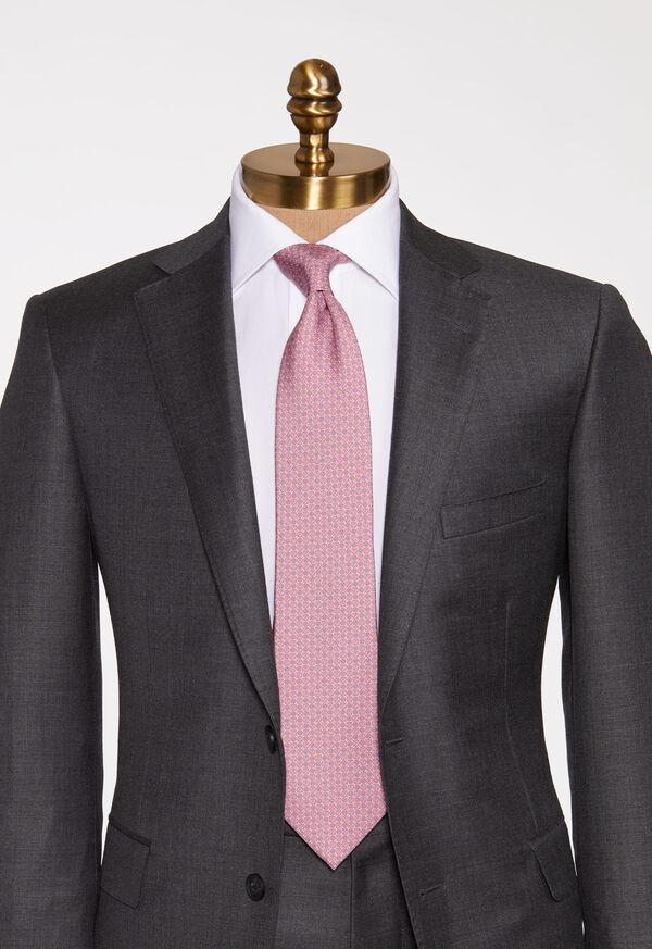Micro Medallion Silk Tie, image 2