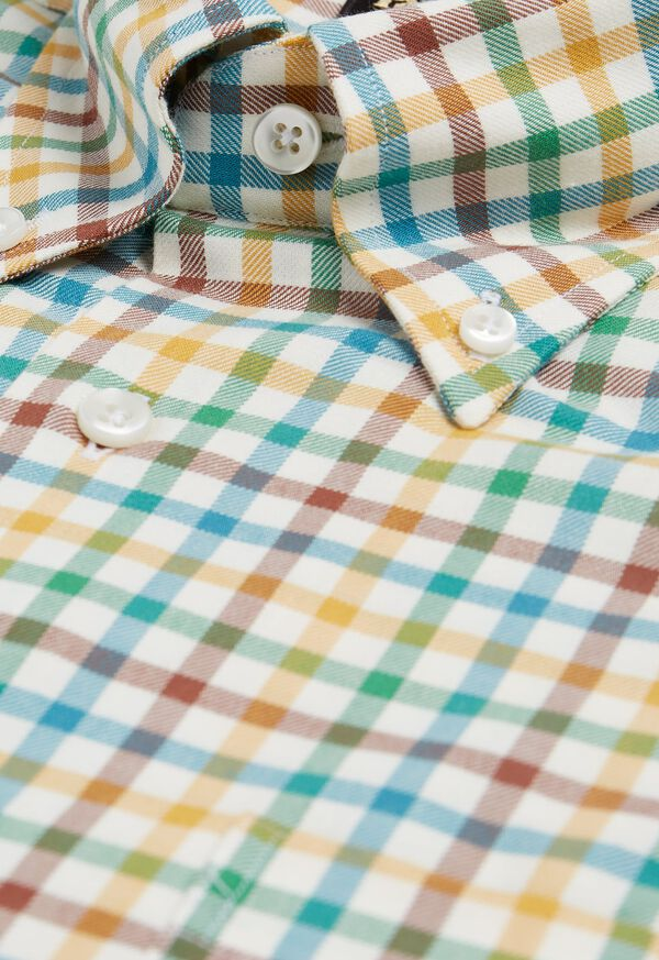 Brushed Flannel Check Sport Shirt, image 2
