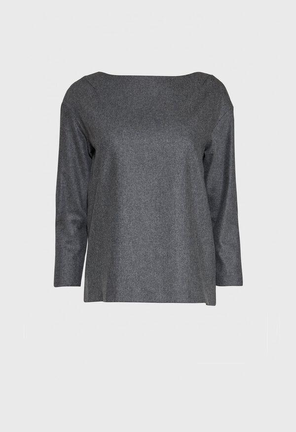 Flannel Zip Back Top, image 1