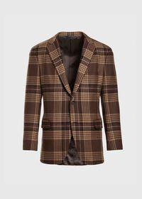 Soft Shoulder Wool Blend Plaid Sport Jacket, thumbnail 1