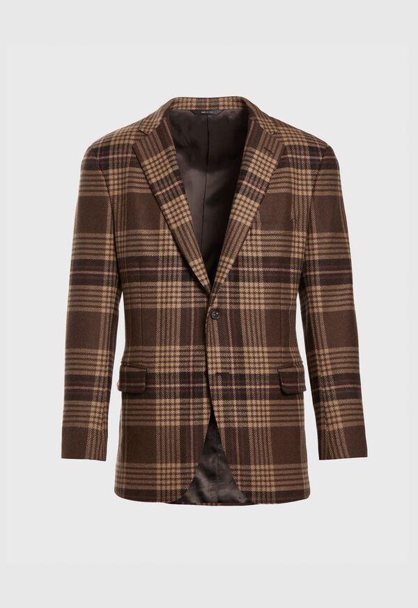 Soft Shoulder Wool Blend Plaid Sport Jacket, image 1