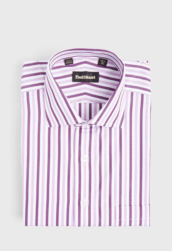 Pink Wide Stripe Dress Shirt, image 1