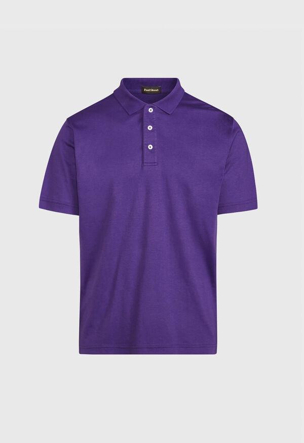 Pima Cotton Interlock Polo, image 4