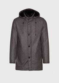 Fur Hooded Parka Coat, thumbnail 1