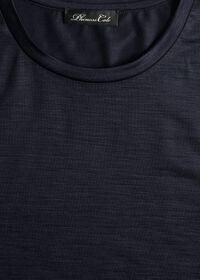 Super 120s Wool Crewneck T-Shirt, thumbnail 2