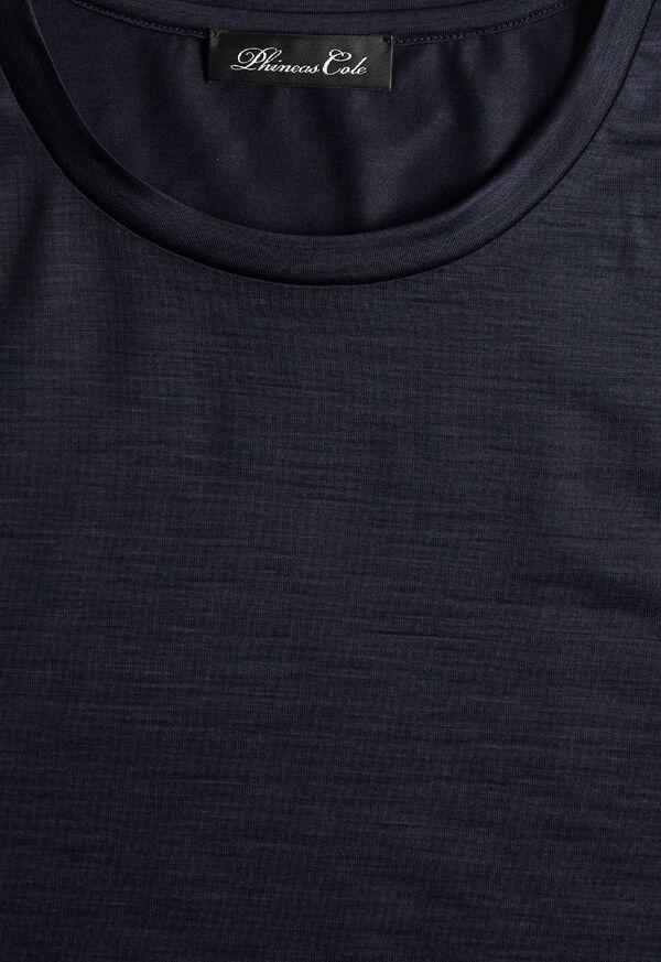 Super 120s Wool Crewneck T-Shirt, image 2