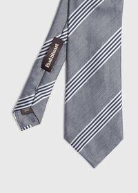 Silk and Linen Stripe Tie, thumbnail 1