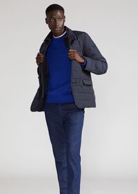 Quilted Button Front Blazer with Gilet, thumbnail 2