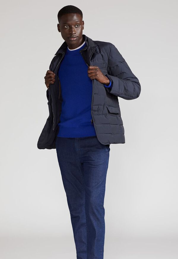Quilted Button Front Blazer with Gilet, image 2