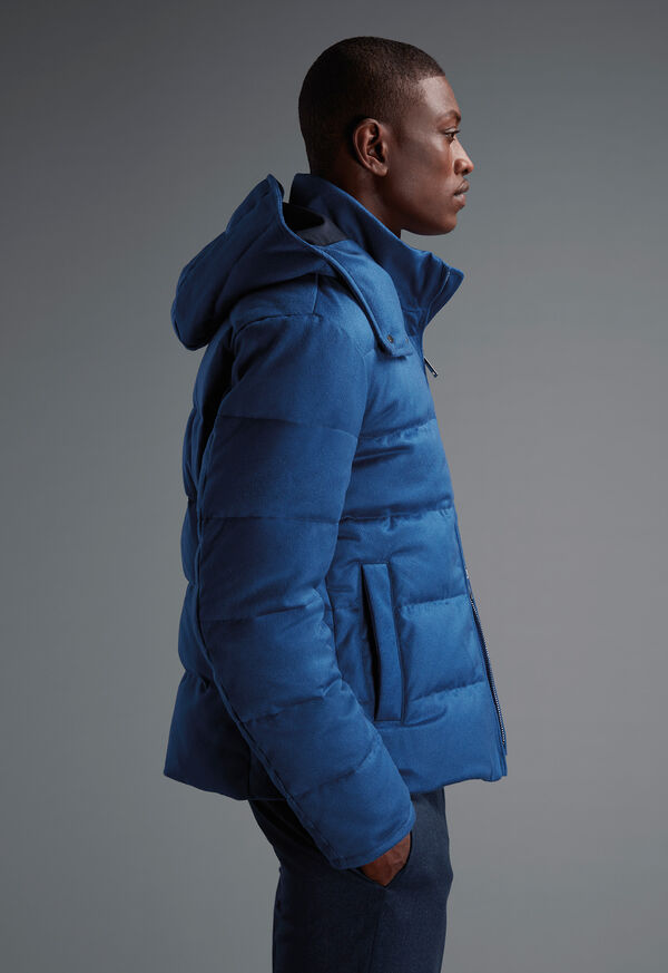 Cashmere Quilted Down Puffer Jacket, image 9