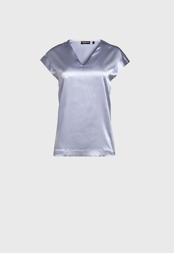 Silk Cap Sleeve Top, image 1