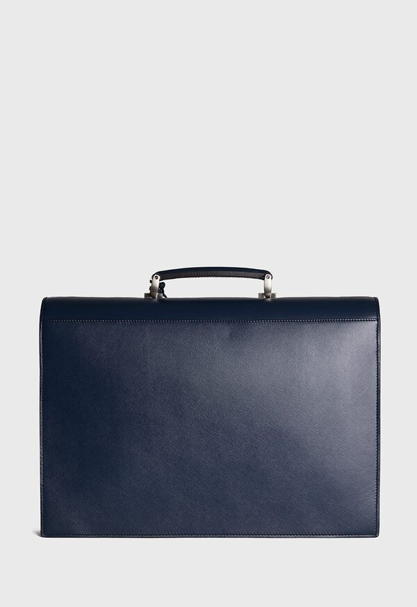 Single Gusset Briefcase With Curved Front Pocket, image 3