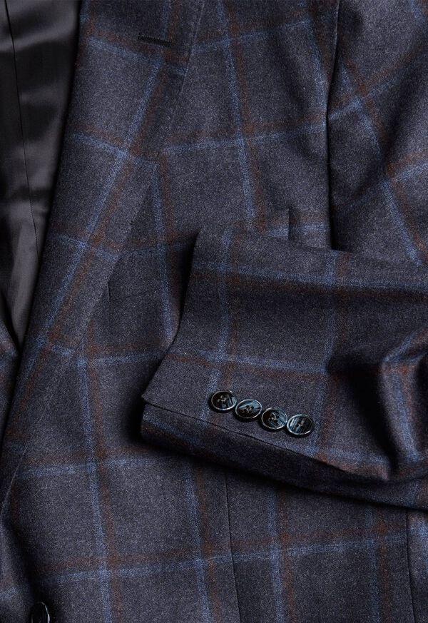 Wool Windowpane Sport Jacket, image 3