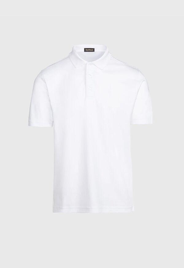 Pima Cotton Interlock Polo, image 1
