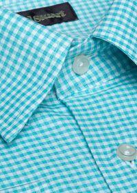 Cotton Gingham Sport Shirt, thumbnail 2