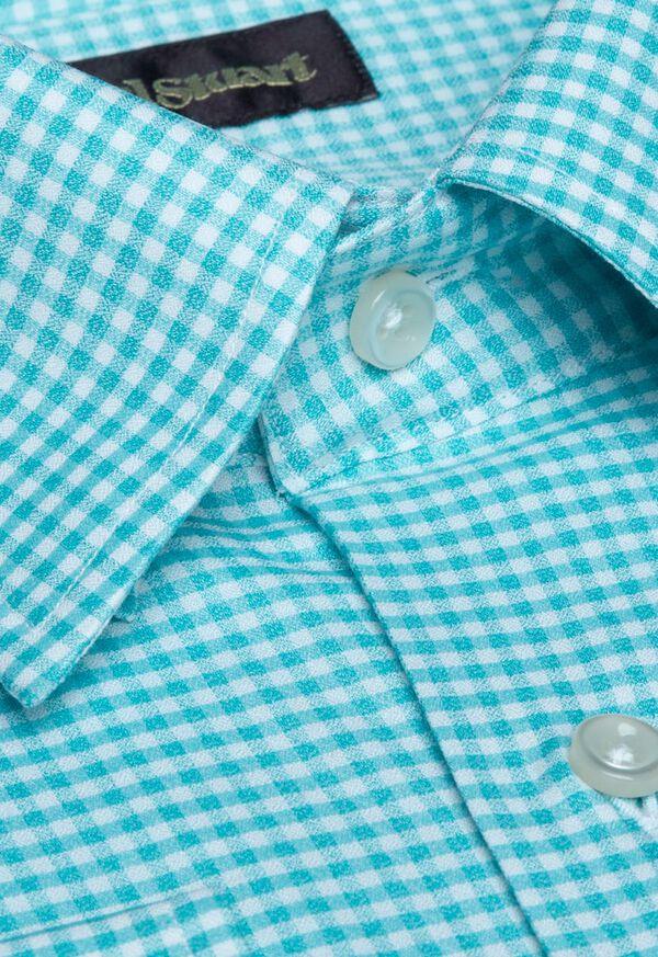 Cotton Gingham Sport Shirt, image 2
