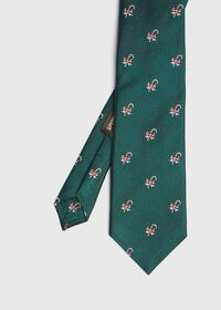 Green Candy Cane Holiday Tie, thumbnail 1