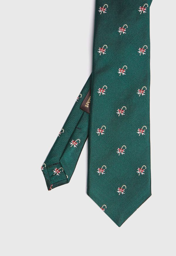 Green Candy Cane Holiday Tie, image 1