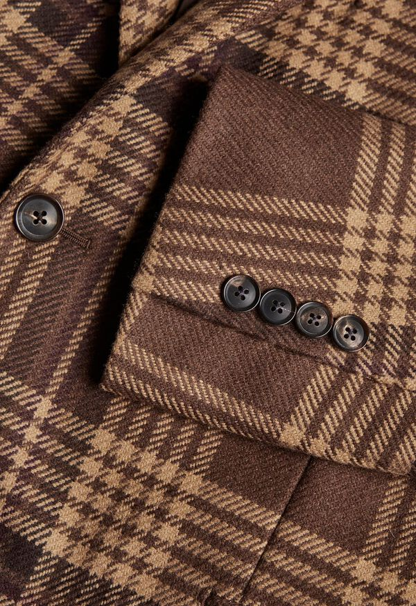 Soft Shoulder Wool Blend Plaid Sport Jacket, image 3